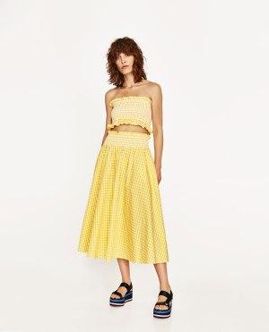gingham-skirt-set